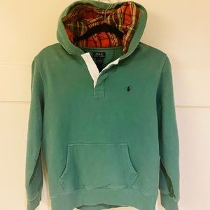 Polo Ralph Lauren Boys Sweatshirt Hoodie Green szL